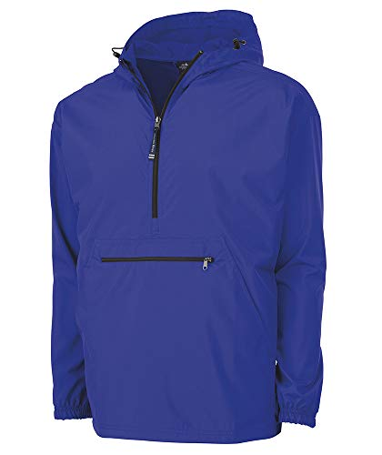 Charles River Apparel Pack-N-Go Wind & Water-Resistant Pullover (Reg/Ext Sizes), Royal, XL
