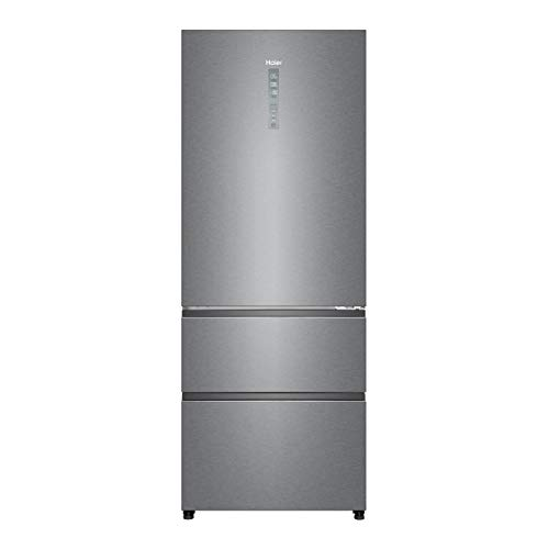 Haier A4FE742CPJ Kühl-Gefrier-Kombination / 190 cm / 312 L Kühlteil / 151 L Gefrierteil / ABT / MyZone Pro / Humidity Zone / Instant Cool Box / Fresher Pad / Inverter Kompressor / Total No Frost