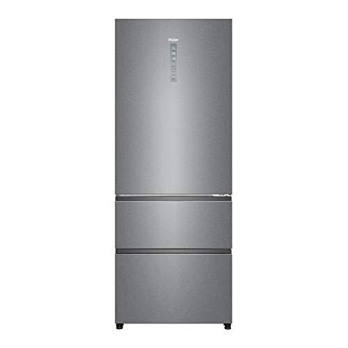 Haier A4FE742CPJ - Frigorífico combi con congelador de cajones, 70cm de ancho, ABT Antibacterias, Motor Inverter, Total No frost, Libre Instalación, Inox, Clase A++