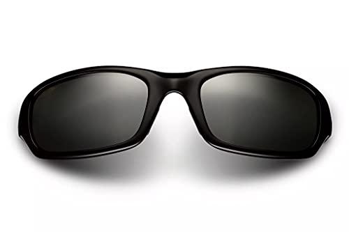 Maui Jim Stingray Gloss Black/Neutral Grey POLARIZED Sunglasses (MJ-Stingray-103-02-56)