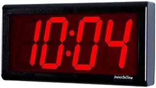 Inova Solutions Digital Ethernet Network Clock - Black Plastic - 4 Red LED Digits
