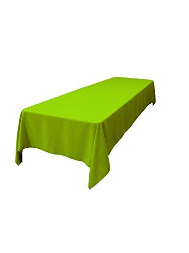 "LA Linen Polyester Poplin Rectangular Tablecloth 60 by 144"" , Lime"