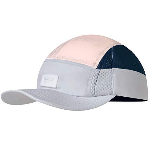 Buff 125314.933.20.00 - Gorra para correr con 5 paneles y braga ultrapower | plegable, transpirable, ligera, protección UV, para correr, para deporte, color gris claro