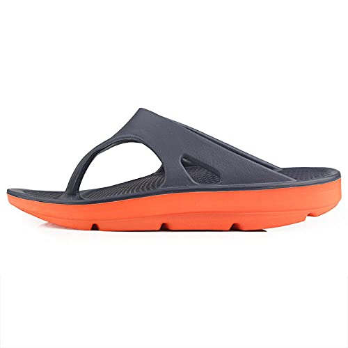 Mxfjolly Pantuflas de verano gruesas sin fondo para hombre, tamaño grande, para playa, color azul, naranja_42