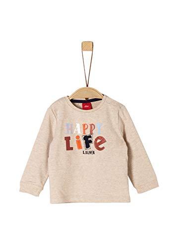 s.Oliver Baby-Jungen 65.909.31.8917 T-Shirt, Beige (Beige Melange 8214), (Herstellergröße: 80)