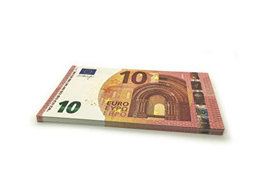 Cashbricks® 75 x €10 Euro Dinero de Juguete (ampliados al 125% del tamaño Original)