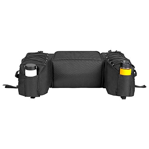 Best Buy! Black Rear Bag Padded Seat Bottom Support Storage Pack Rack Back for Off Road Motorcycle A...