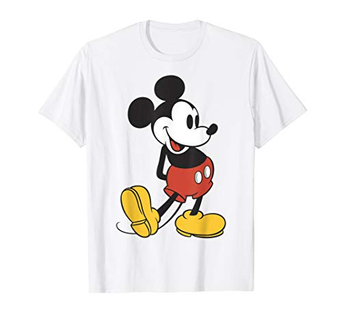 Disney Mickey Mouse Vintage Leg Kick Graphic T-Shirt
