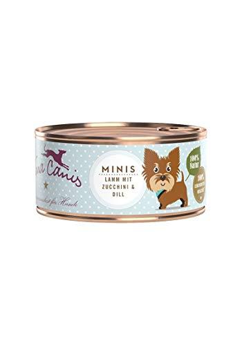 Terra Canis Mini-Hunde Nassfutter I Reichhaltiges Premium Hundefutter in echter Lebensmittelqualität mit Lamm, Zucchini & Dill I 100g, allergenarm, getreidefrei & glutenfrei