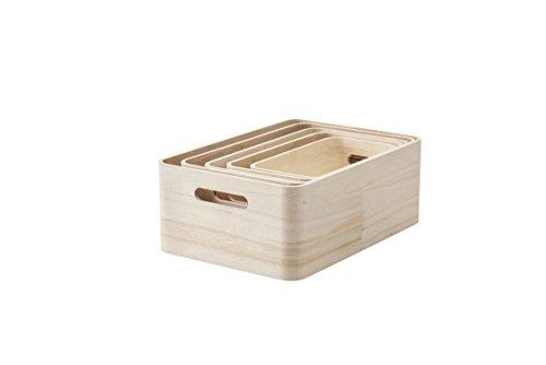 RIG-TIG Aufbewahrungsboxen, Braun, 37 x 14 x 26 cm