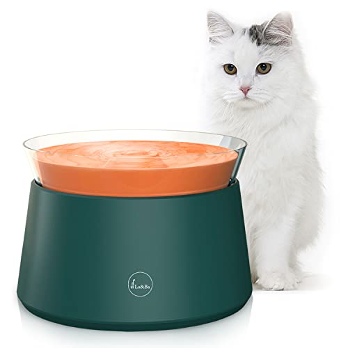 Lu&Ba Cat Water Fountain, Automatic Pet Water Fountain with Ceramic Super Quiet Pump and LED Indicator Water Shortage Alert