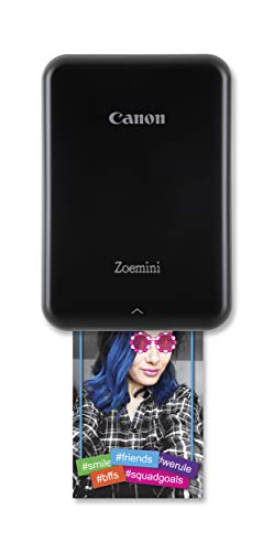 Canon Zoemini Pv-123 - Mini Impresora (Bluetooth, USB, 314 x 600 PPP, Canon Mini Print) Color Negro