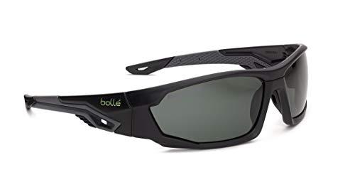Bollé Safety MERPOL, Mercuro Safety Glasses, Anti-Scratch, Grey Black Frame, Polarized Lenses, Universal