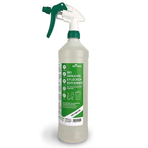 Bio-Chem Bio Urin Attacke Geruchs- und Fleckenentferner, Geruchsneutralisierer, Geruchsvernichter, Katzen-Geruchsentferner, Katzen-Urin und Hunde-Urin Entferner, Urin-Reiniger (1000 ml (1er Pack))