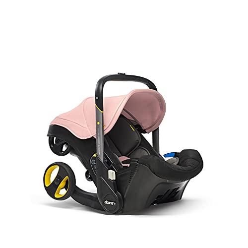 Doona+ 0+ Kindersitz - Die erste Babyschale mit integriertem Fahrgestell: Von Autositz zum Buggy in Sekundenschnelle - bis zu 13 kg - Blush Pink/rosé