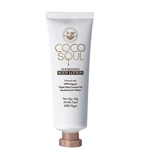 Coco Soul Beauty Nourishing Body Lotion with Virgin King Coconut Oil (Sulphate & Paraben Free), 50 ml