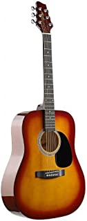 Stagg SW201CS Dreadnought Acoustic Guitar with Steel Strings - Cherryburst