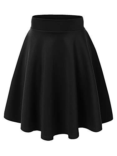 MBJ WB829 Womens Flirty Flare Skirt XXL Black