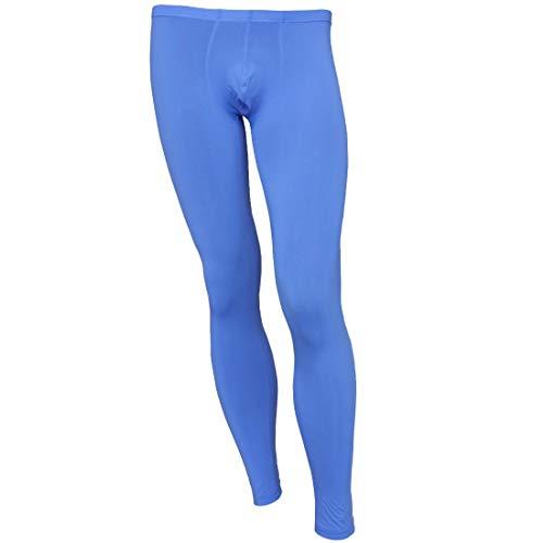 inhzoy Herren Leggings Transparent Strumpfhose Strümpfe Lange Männer Sexy Unterhose Dessous Schlafhose Blau L