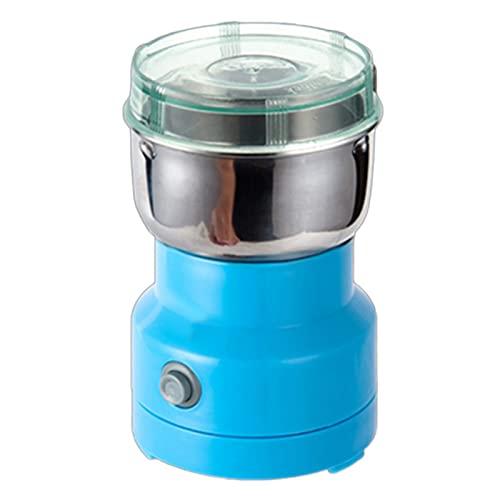 Portable Herb Spice Coffee Grinder, 110/220V Home Electric Coffee Grinder Bean Sugar Kitchen Grinding Machine Mill – Blue CN Plug 220V
