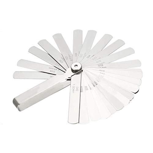 Spurtar シックネスゲージ 隙間ゲージ 26枚組 厚さ 薄さ 0.038mm〜0.635mm
