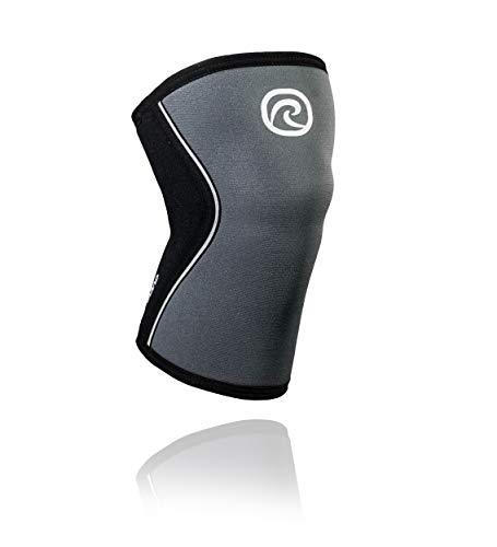 Rehband RX Knee Sleeve 5mm Kniebandage, Steel Grau, M