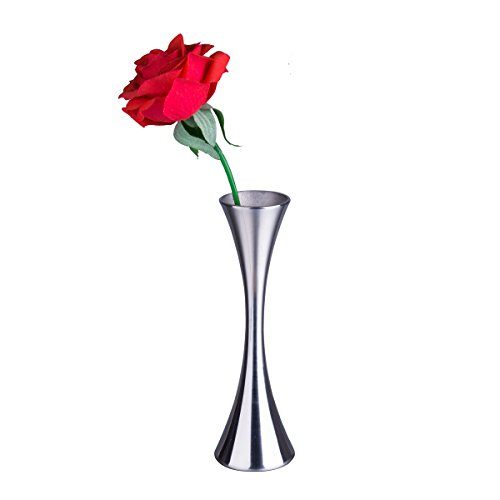 IMEEA Mini Flower Vase Small Bud Vase for Decorative Home Decor Living Room Office and Centerpieces Stainless Steel 6.6' High