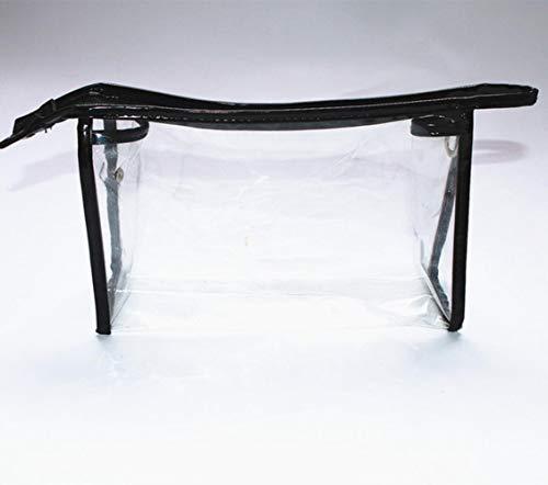 Opak Sac à cosmétiques Transparent Transparent Sac de Lavage Sac de Rangement Portable féminin Sac de Rangement de Voyage Transparent, Noir
