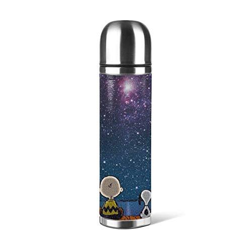 Beste Edelstahl-Thermosflasche mit Zwischenraum - Erdnüsse BPA-frei - Heißer Kaffee oder kalter Tee + Getränketasse - Perfekt für Camping im Büro und im Freien - Passt zu Caddy oder Rucksack