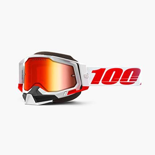 100% Racecraft 2 Snowmobile Anti-Fog Goggles (ST-KITH - Mirror Red...