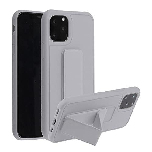 Suhctup Anti-caída Silicona Funda Compatible con Xiaomi Mi CC9e/Mi A3,Color Puro Moda Antigolpe Carcasa con Magnética Soporte para Teléfono de Coche, Soporte Plegable de Pulsera