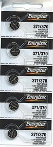 Energizer 371 / 370 Silver Oxide Watch Battery (5 per Pack) by Energizer