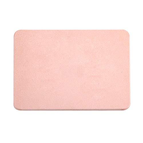 NEVRTP Ultra Absorbent Mat Badmatte , rutschfeste waschbare Badematte, weiche Badematte, Badteppich für Bad, Dusche und Zimmer,30x20cm (Rosa)