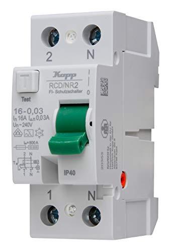 Kopp 751628090 751628090-Interruptor diferencial (16 A, 30 mA, 2 Polos)