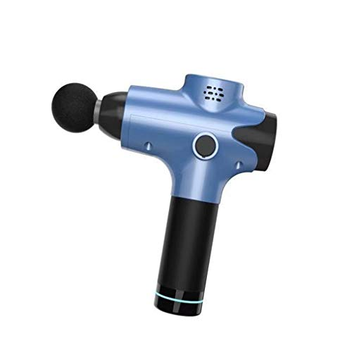 Handheld Deep Massage Gun Professional Personal Massage Device Relaxation Body Massage Gun helpt tegen spierpijn en stijfheid (Color : Blue)