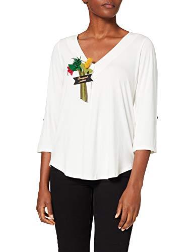 Mamatayoe MYRTHUS Camiseta, Blanco Roto, XL para Mujer