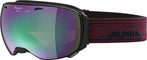 Alpina Big Horn MM Skibril, uniseks, volwassenen, mat zwart, één maat