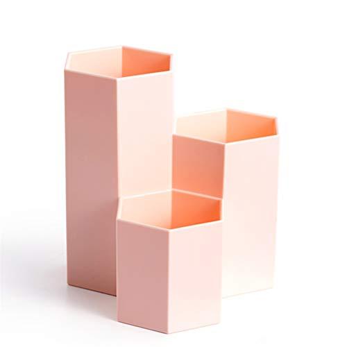 Shounadai Boîte de rangement pour cosmétiques - Matériau PS, épais et durable, matériau léger, combinaison de colonnes hexagonales, salon chambre à coucher salle de bains cuisine simple bureau à domic