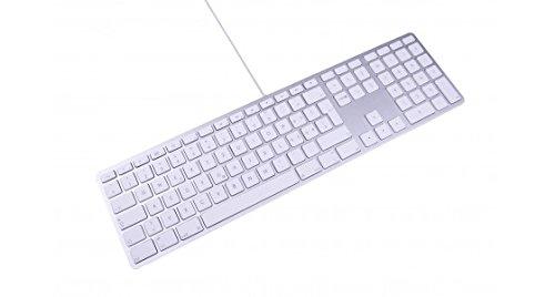 LMP 17573 - Teclado español USB KB-1243 para Mac, Color Plata