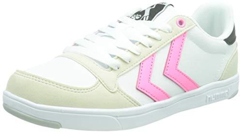 hummel Unisex-Erwachsene Stadil Light Canvas Sneaker, White/PINK,39 EU