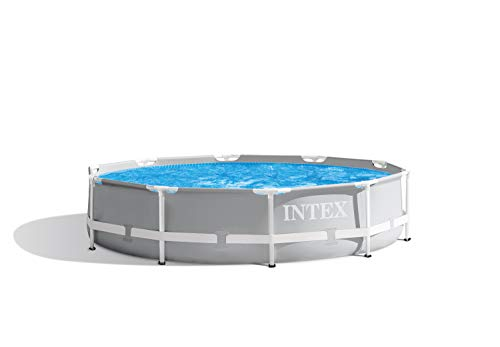 Intex Prism Rondo Ø 305 x 76 cm Frame Pool Set, Hellgrau