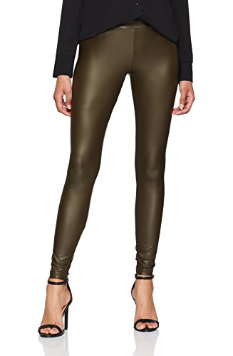 PIECES Damen PCLAUREN Shiny Colorful NOOS Leggings, Grün Dark Olive, W29(Herstellergröße: M)