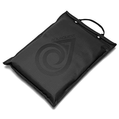 Aqua Quest Storm Laptop Case - 100% Waterproof Pouch for Apple, Samsung, Acer, Dell, Asus, Lenovo, HP Lightweight Sleeve (15 Inch, Ebony Old Logo)