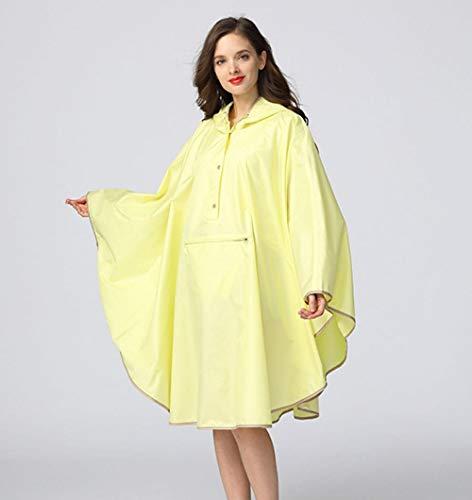 ZWYM Waterproof Emergency Rain Coat Women Windbreaker Hooded Men Rain Capes Ponchos-Light_Yellow_One_Sizeponcho Impermeable