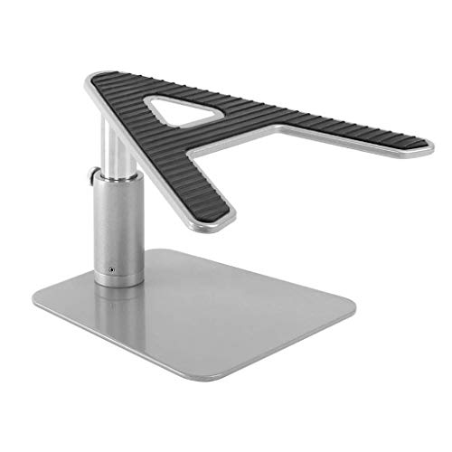 HYY-YY Vertical Laptop Tablet Stand, Universal Laptop Riser Ergonomic Ventilated Desktop Holder Space-saving Compatible With 10'~17.3' Notebooks - Silver