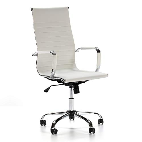 VS Venta-stock Sillón de Oficina Londres reclinable Blanco,