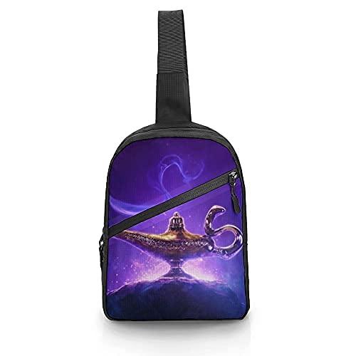 Aladdin y la lámpara mágica Correa ajustable Bandolera en el pecho Bolso bandolera plegable Mochila de hombro multiusos Mochila