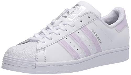 adidas Originals Damen Superstar Turnschuh, Weiß/Lila Tönung/Silber-Metallic, 41 EU