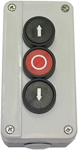 Taster 3-fach aufputz für Garagentore, Sektionaltore, Kipptore, Schwingtore, Toröffner, Tortaster ((ohne) Verdrahtung)