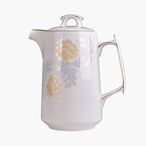 wantanshopping Jarra de Agua Tetera de cerámica Tetera Cafetera Pote de Agua Pote Porcelana Botella de Agua fría Jarra de Cristal